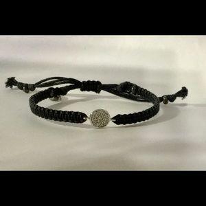 Tai Jewelry CZ Friendship Bracelet, Black